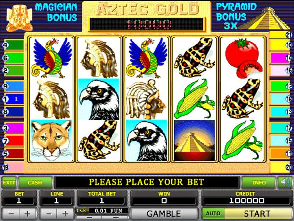 Игровой автомат Aztec Gold - самый удачный выбор