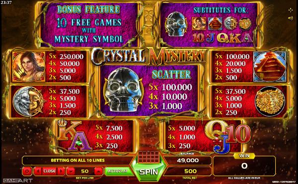 Игровой автомат Crystal Mystery - играй в слоте онлайн на деньги в Вулкан казино