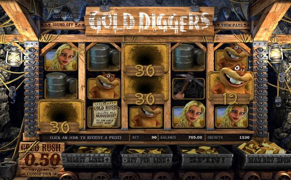 Игровой автомат Gold Diggers - не пропусти золотую лихорадку в Вулкан казино