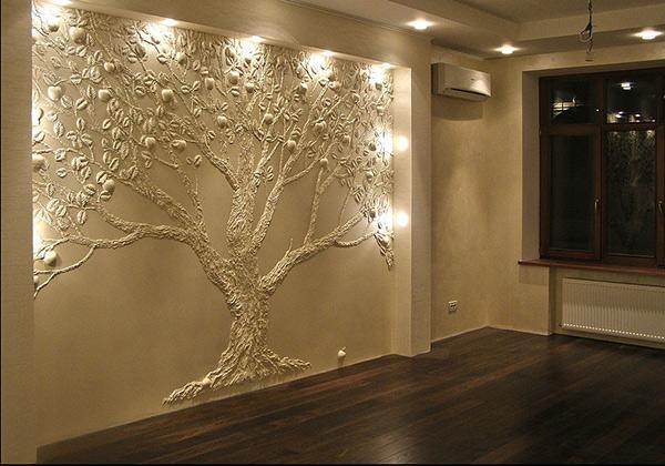 Использование декоративной штукатурки для внутренней отделки стен