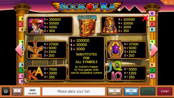 Шикарные сюрпризы ждут игроков в автомате Book of Ra на официальный сайт Азино 777
